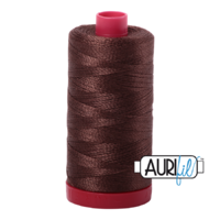 Aurifil 12wt Cotton Mako' 325m Spool - 1285 - Medium Bark