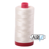 Aurifil 12wt Cotton Mako' 325m Spool - 2026 - Chalk