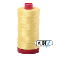 Aurifil 12wt Cotton Mako' 325m Spool - 2115 - Lemon