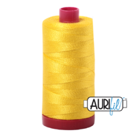 Aurifil 12wt Cotton Mako' 325m Spool - 2120 - Canary
