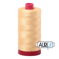 Aurifil 12wt Cotton Mako' 325m Spool - 2130 - Medium Butter