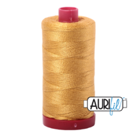 Aurifil 12wt Cotton Mako' 325m Spool - 2132 - Tarnished Gold
