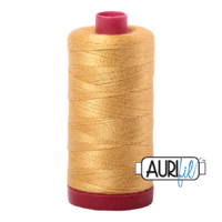 Aurifil 12wt Cotton Mako' 325m Spool - 2134 - Spun Gold
