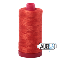 Aurifil 12wt Cotton Mako' 325m Spool - 2245 - Red Orange