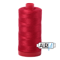 Aurifil 12wt Cotton Mako' 325m Spool - 2250 - Red