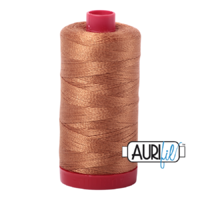 Aurifil 12wt Cotton Mako' 325m Spool - 2335 - Light Cinnamon