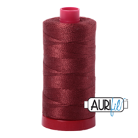 Aurifil 12wt Cotton Mako' 325m Spool - 2345 - Raisin