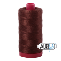 Aurifil 12wt Cotton Mako' 325m Spool - 2360 - Chocolate