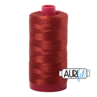 Aurifil 12wt Cotton Mako' 325m Spool - 2385 - Terracotta