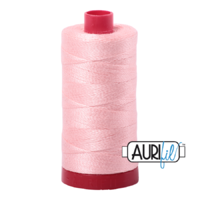 Aurifil 12wt Cotton Mako' 325m Spool - 2415 - Blush Pink