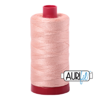 Aurifil 12wt Cotton Mako' 325m Spool - 2420 - Blush