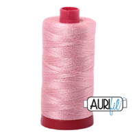 Aurifil 12wt Cotton Mako' 325m Spool - 2437 - Light Peony