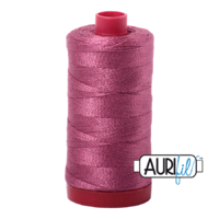 Aurifil 12wt Cotton Mako' 325m Spool - 2450 - Rose