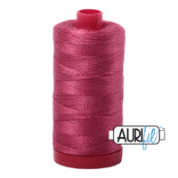 Aurifil 12wt Cotton Mako' 325m Spool - 2455 - Medium Carmine Red