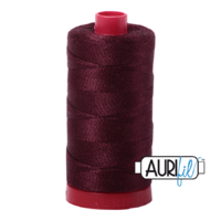Aurifil 12wt Cotton Mako' 325m Spool - 2468 - Dark Wine