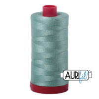 Aurifil 12wt Cotton Mako' 325m Spool - 2845 - Light Juniper