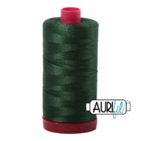 Aurifil 12wt Cotton Mako' 325m Spool - 2892 - Pine
