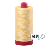 Aurifil 12wt Cotton Mako' 325m Spool - 3910 - Lemon Ice