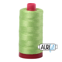 Aurifil 12wt Cotton Mako' 325m Spool - 5017 - Shining Green