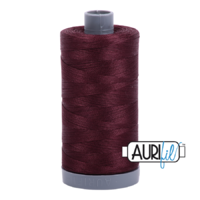 Aurifil 28wt Cotton Mako' 750m Spool - 2468 - Dark Wine