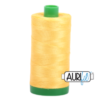 Aurifil 40wt Cotton Mako' 1000m Spool - 1135 - Pale Yellow