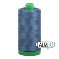 Aurifil 40wt Cotton Mako' 1000m Spool - 1310 - Medium Blue Grey