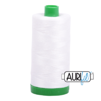 Aurifil 40wt Cotton Mako' 1000m Spool - 2021 - Natural White
