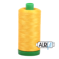 Aurifil 40wt Cotton Mako' 1000m Spool - 2135 - Yellow
