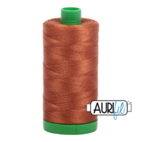 Aurifil 40wt Cotton Mako' 1000m Spool - 2155 - Cinnamon