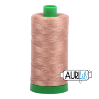Aurifil 40wt Cotton Mako' 1000m Spool - 2340 - Cafe' au Lait