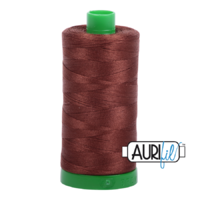 Aurifil 40wt Cotton Mako' 1000m Spool - 2360 - Chocolate