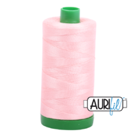 Aurifil 40wt Cotton Mako' 1000m Spool - 2415 - Blush Pink