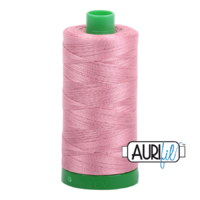 Aurifil 40wt Cotton Mako' 1000m Spool - 2445 - Victorian Rose