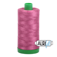 Aurifil 40wt Cotton Mako' 1000m Spool - 2450 - Rose