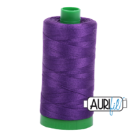 Aurifil 40wt Cotton Mako' 1000m Spool - 2545 - Medium Purple