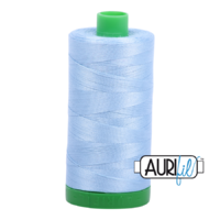 Aurifil 40wt Cotton Mako' 1000m Spool - 2715 - Robins Egg