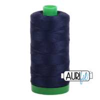 Aurifil 40wt Cotton Mako' 1000m Spool - 2785 - Very Dark Navy