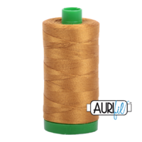 Aurifil 40wt Cotton Mako' 1000m Spool - 2975 - Brass