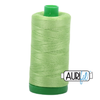 Aurifil 40wt Cotton Mako' 1000m Spool - 5017 - Shining Green