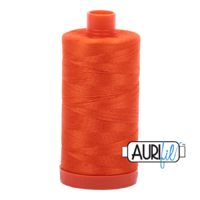 Aurifil 50wt Cotton Mako' 1300m Spool - 1104 - Neon Orange