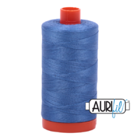 Aurifil 50wt Cotton Mako' 1300m Spool - 1128 - Light Blue Violet