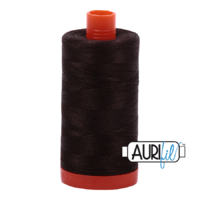 Aurifil 50wt Cotton Mako' 1300m Spool - 1130 - Very Dark Bark