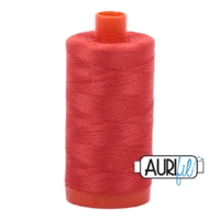 Aurifil 50wt Cotton Mako' 1300m Spool - 2277 - Light Red Orange