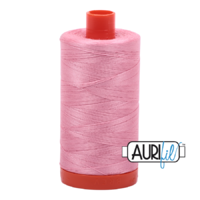 Aurifil 50wt Cotton Mako' 1300m Spool - 2425 - Bright Pink