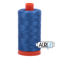 Aurifil 50wt Cotton Mako' 1300m Spool - 2730 - Delft Blue