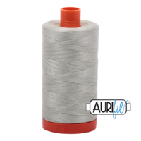 Aurifil 50wt Cotton Mako' 1300m Spool - 2843 - Light Grey Green