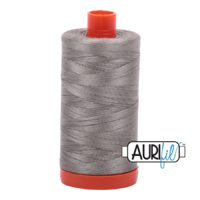Aurifil 50wt Cotton Mako' 1300m Spool - 6732 - Earl Grey