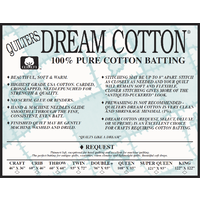 White Cotton Request Natural Double